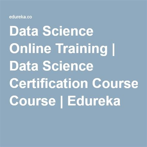 data science  training data science certification