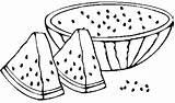 Watermelon Coloring Fruit Jeffersonclan Fresh Gaddynippercrayons sketch template