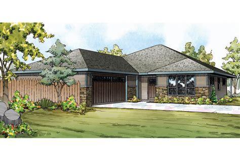 prairie style house plans oakdale    designs