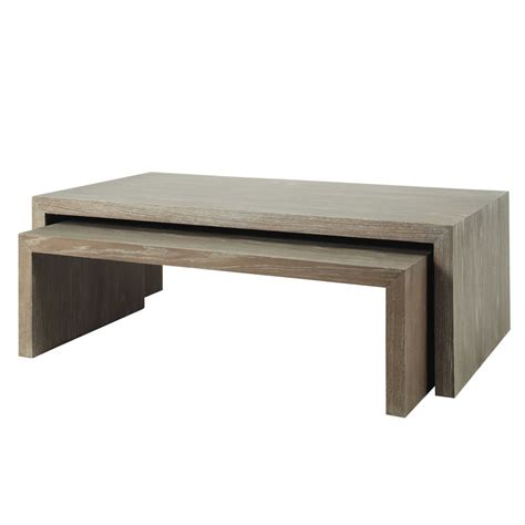 chambre bébé grise tables basses gigogne en bois grises l 115 cm à l 130 cm