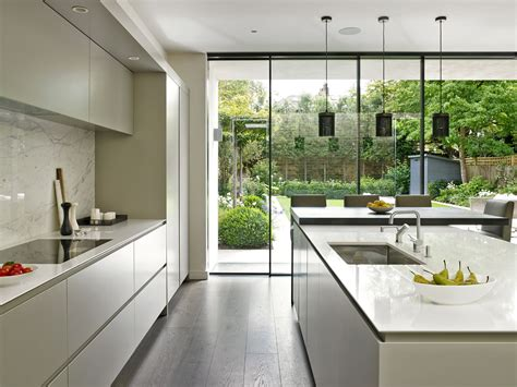 sleek minimalist modern kitchen design  wandsworth