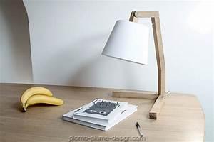 Lampe Bureau Bois : lampe de chevet en bois abat jour couleur oud s de bellila ~ Teatrodelosmanantiales.com Idées de Décoration