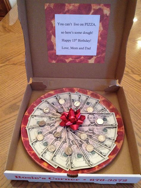 pizza   money creative money gifts money gifts