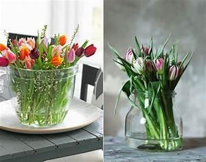 zarte und frische frühlingsdeko mit tulpen für frische