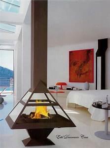 Cheminée Centrale Prix : chemin e centrale pyramide vitr e fonctionnant au gaz ~ Premium-room.com Idées de Décoration