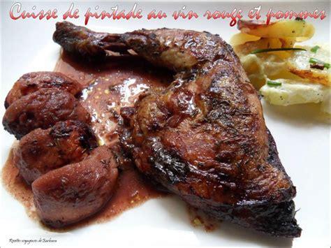 cuisiner des cuisses de pintade cuisse de pintade au vin et pommes recettes