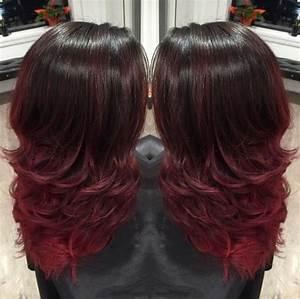 Ombré Hair Rouge : coloration ombr hair rouge coiffure tintes para ~ Melissatoandfro.com Idées de Décoration
