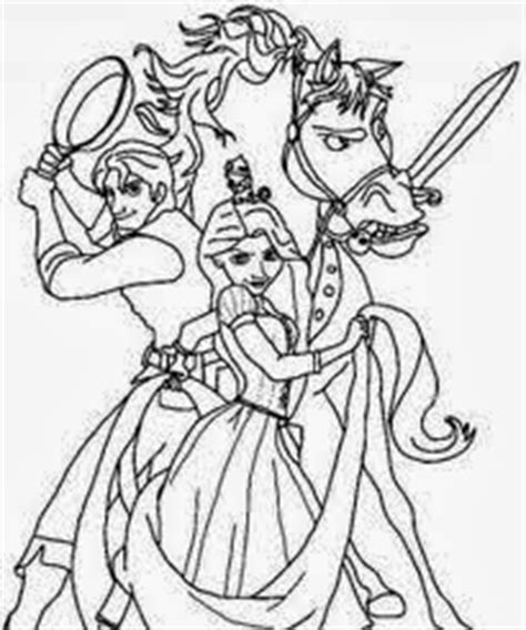 tangled coloring pages maximus rapunzel