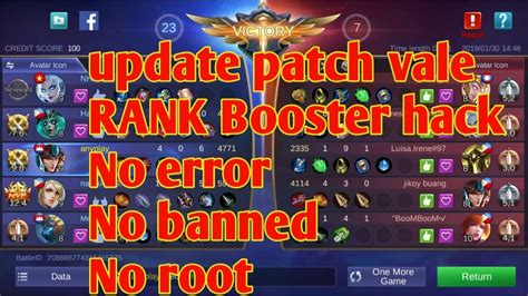 Mobile Legends Rank Booster Patch Vale