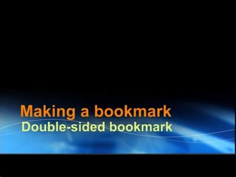 making  double sided bookmark  word youtube