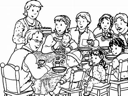 Coloring Dinner Caillou Parent Wecoloringpage