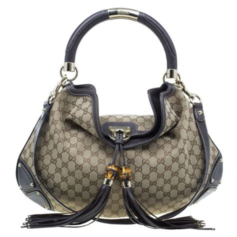 buy gucci beige monogram canvas large indy top handle bag