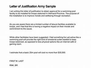 Letter of justification for Justification memo template