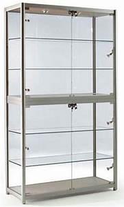 Vitrine En Verre : vitrine aluminium et verre 100x40x197 4 tag res ~ Teatrodelosmanantiales.com Idées de Décoration