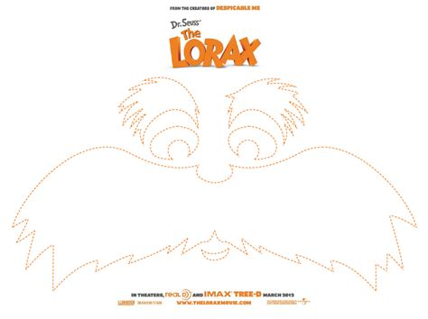 lorax mustache template get creative with the lorax tour today s creative
