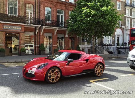 Alfa Romeo 4c Spotted In London, United Kingdom On 05/30/2015