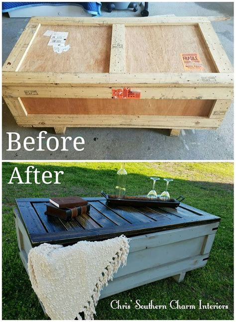 repurposed shipping crate painted  grey   bottom