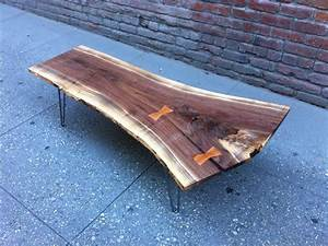 sold black walnut live edge coffee table with amazing With live edge black walnut coffee table