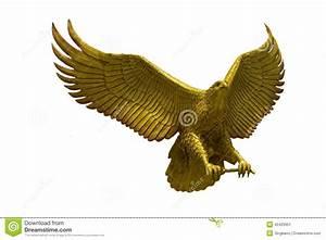 Statue D'aigle D'or Avec De Grandes Ailes Augmentées Photo
