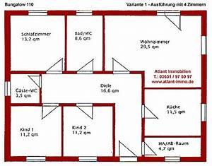 Grundrisse Für Bungalows 4 Zimmer : bungalow 110 einfamilienhaus neubau massivbau stein auf stein ~ Sanjose-hotels-ca.com Haus und Dekorationen