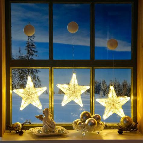 Weihnachtsdeko Fenster Saugnapf by Led Fensterdeko Sternengl 252 Ck 3er Set Kaufen Bei