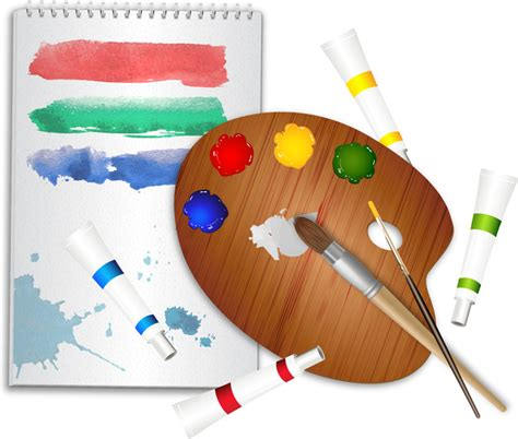 drawing tools cartoon  vector