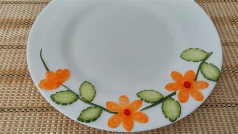 vegetable plate decoration  vietnam food channel