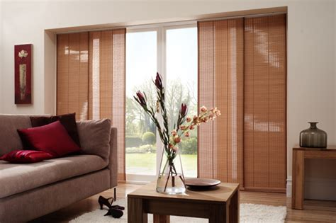 pin sliding door window treatments blinds on