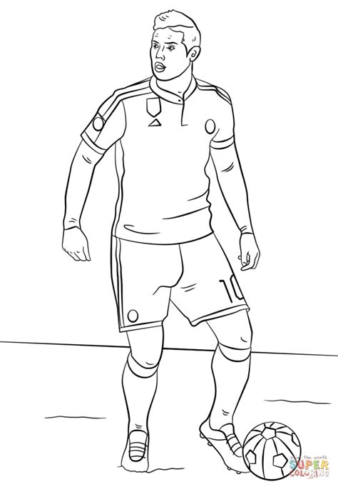 Kleurplaat Messi Ronaldo by Rodriguez Coloring Page Free Printable Coloring Pages