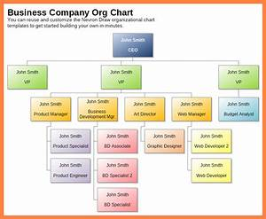 11  Organizational Chart Of The Company