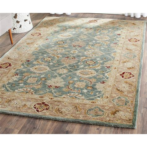 Kitchen Rug Ideas - safavieh antiquity teal blue taupe 5 ft x 8 ft area rug at849b 5 the home depot