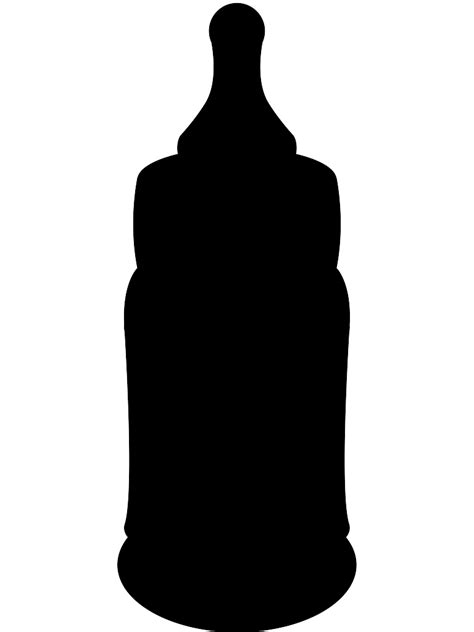 Baby Bottle Silhouette   Free vector silhouettes
