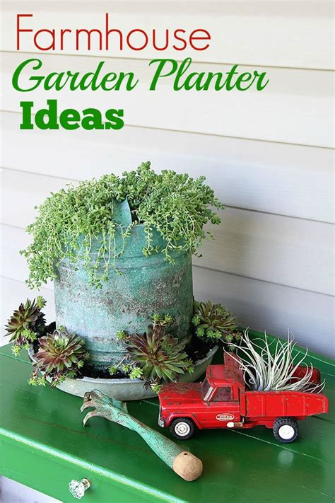 Farmhouse Garden Planter Ideas House Hawthornes