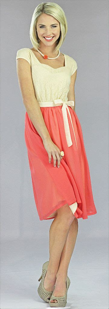 coral dress bridesmaid dress coral modestpop fashion coral clothes and modest clothing