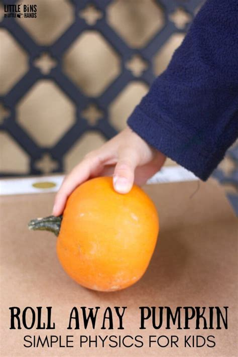 rolling pumpkins science activity  fall themed stem