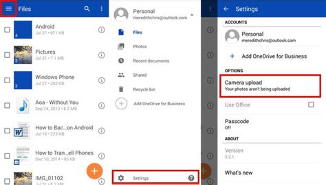 onedrive for android how to automatically sync android photos to pc with cloud