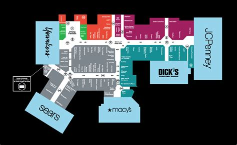 Mall Map of The Empire Mall, a Simon Mall - Sioux Falls, SD