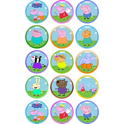 peppa pig      cupcakes sweet tops