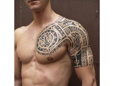 polynesian tattoo   sleeve   chest tatoo