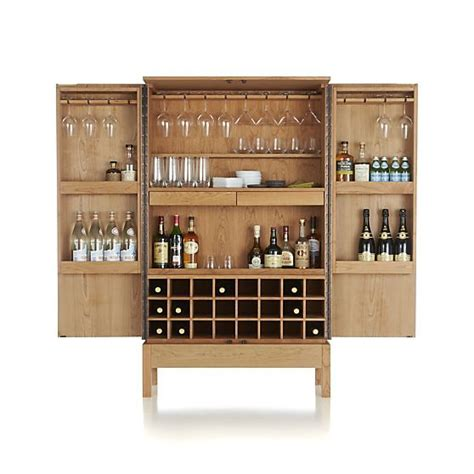 Crate And Barrel Victuals Bar Cabinet by Victuals Cherry Bar Cabinet