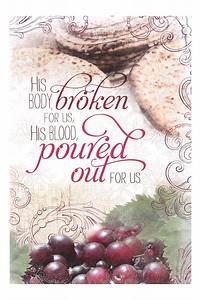 Salt & Light, His Body Broken for Us Communion Bulletins