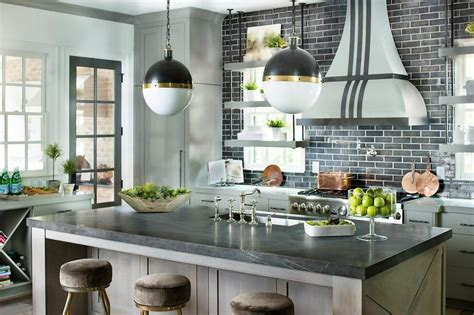 black brick tiles kitchen glass front kitchen cabinets mediterranean kitchen 4651