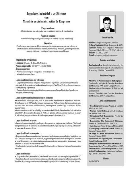 curriculum vitae espanol ejemplo lilzeu de
