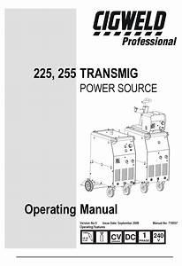 Cigweld 225 Operating Manual Pdf Download