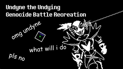 unitale undyne the undying genocide battle recreation youtube