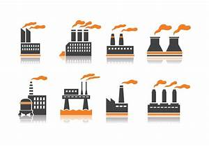 Smoke Stack Industry Icons - Download Free Vector Art ...
