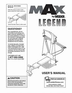 Weider Home Gym Wesy59930 User U0026 39 S Guide
