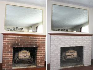 Fireplace Makeover: Painting the Firebox and Mantel
