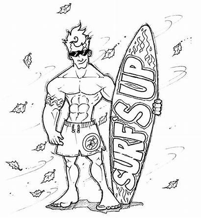 Dude Surfer Surf