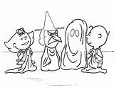 Halloween Coloring Charlie Brown Printables sketch template